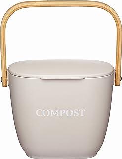 KitchenCraft Natural Elements Komposteimer für die Küche,