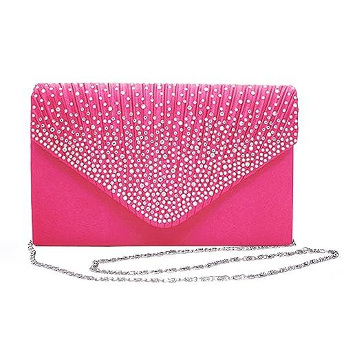 025dfafffd Outrip Womens Envelope Evening Bag Rhinestone Clutch Purse Party Wedding  Handbag