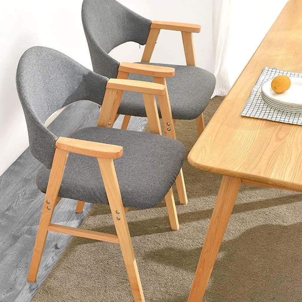 GSN Chaise salle à manger, cuisine Chaise Solid simple bois, fauteuil de loisirs chaise de bureau chaise dDining adulte fauteuils (Color : B) C
