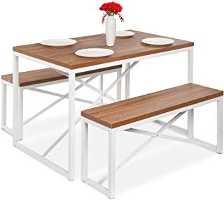 Best Choice Products 45.5in 3-Piece Bench Style Dining...
