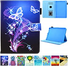 Folio Case for Kindle fire HD 8, JZCreater Slim Leather Standing Case Cover with Auto Wake/Sleep for All-New Fire HD 8 Tablet (2018 2017 2016 Release, 8th/7th/6th Generation), Purple Butterfly