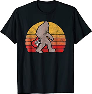 Sasquatch Electric Guitar Vintage Bigfoot Rock & Roll Shirt