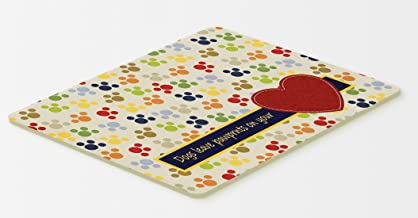 Caroline's Treasures SB3054CMTDogs Leave Paw Prints on Your Heart Kitchen or Bath Mat, 20 by 30, Multicolor