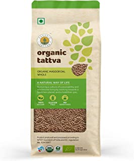 Organic Tattva Masoor Dal Whole, 500 gm