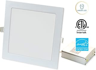 """1260 Lumen, 8"""" Square Recessed Ultra Slim Ceiling LED Down Light, Air Tight & IC Rated, ETL, Energy Star (Square, 8 inches)"""