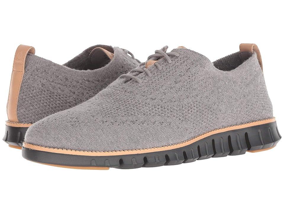 Cole Haan Zerogrand Stitchlite Wool Oxford (Ironstone Wool/Black) Men