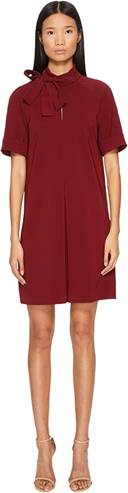 Manila Grace - 3/4 Sleeve Bow Neck Dress