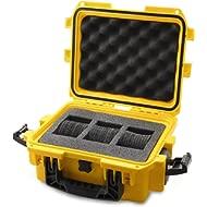 IG0097-SM1S-Y 3 Slot Yellow Plastic Watch Box Case