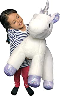 XXL Size Unicorn Pillow Plush Toy Kid Babies Nursery Room Decoration Huge Big Large Doll