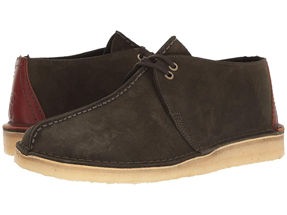 Clarks Desert Trek (Dark Green Suede) Men