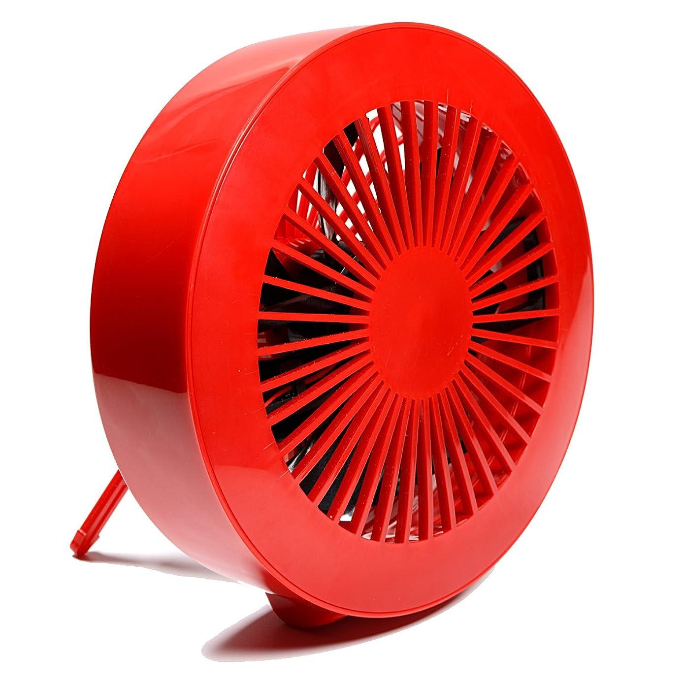 節約標高メトロポリタン慶洋エンジニアリング(KEIYO) 卓上扇風機 USBミニ扇風機 レッド AN-S015R