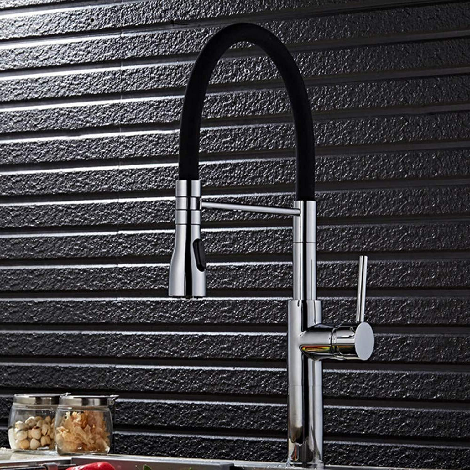 Xiujie Faucet New Creative Plating Kitchen Hot and Cold Single Handle Single Hole Universal Faucet Faucet