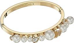 Modern Classic Pearl Charm Hinge Bracelet
