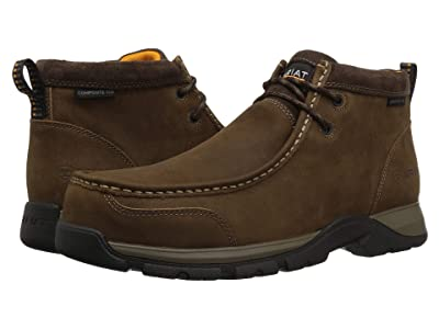 Ariat Edge LTE Moc Composite Toe (Dark Brown) Men
