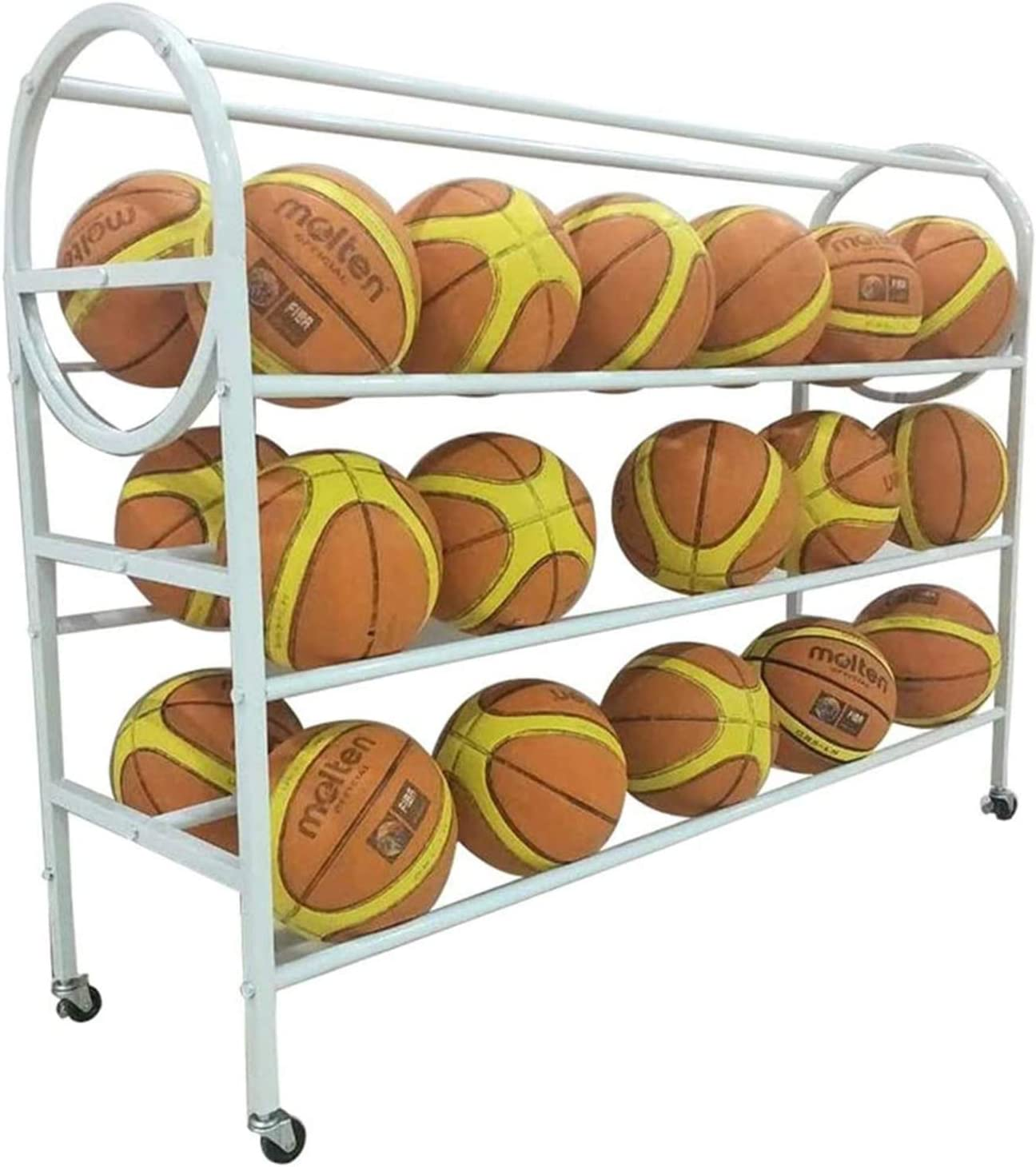 LLFF Sports Ball Rack 35 free 4-Layer Basketball All items in the store Storage Balls
