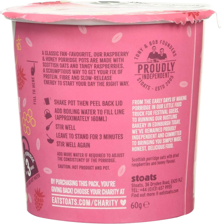 Stoats Raspberry & Honey Porridge Pots 20g Pack of 20  Amazon ...