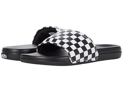Vans Kids La Costa Slide-On (Little Kid) ((Checkerboard) White) Kid
