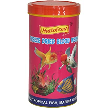 Hallofeed Freeze Dried Blood Worms Fish Food - 55 Gms