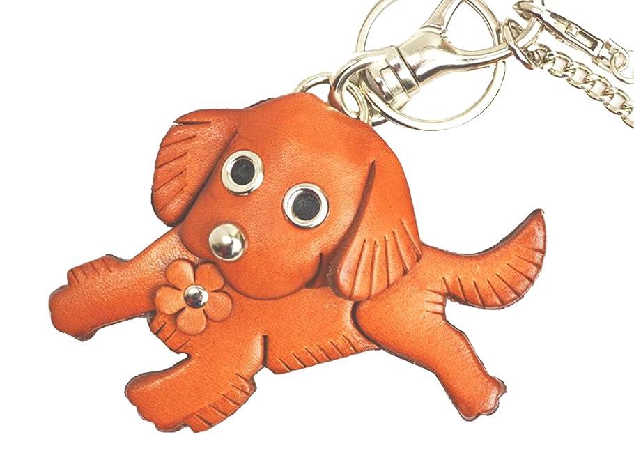 破壊する恐ろしいですゾーンゴールデンレトリバー 犬 本革製 バッグチャーム VANCA CRAFT 革物語(日本製 ハンドメイド)