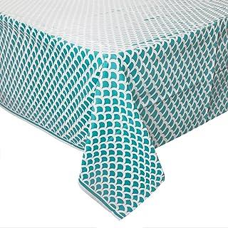 Mantel de Plástico con Diseño de Concha - 2,74 m x 1,37 m