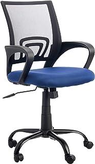 Archivo 2000 6474AZ Rebezo - Silla de Oficina de Mecanismo basculante con Base metálica y Respaldo de Malla, Color Azul