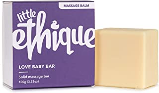 Ethique Eco-Friendly Baby Massage Bar, Love Baby Bar - Sustainable Natural Baby Bar to Prevent Dry Skin & Promote Relaxation, Plastic Free, Vegan, Plant Based, 100% Compostable and Zero Waste, 3.53oz