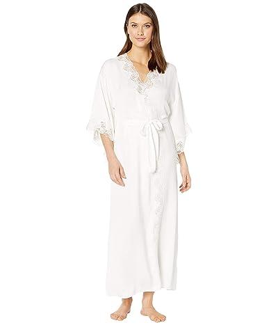 Eileen West Satin Ballet Wrap Robe (Winter White) Women