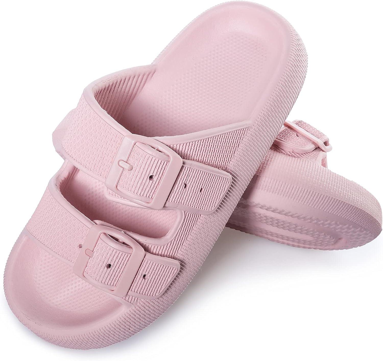 Pillow Slides Cloud Sandals Shower Beach Shoes Spa Rubber Slides Non Slip Comfy Soft Slippers Chunky Thick Slides for women men
