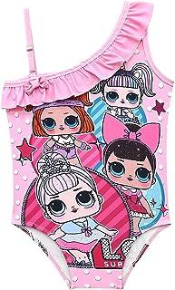Girls Swimsuit One Piece Unicorn Rainbow Tankini Kids Bathing Suits, SPF 50