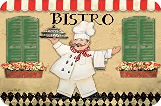 Wipe-Clean Reversible Plastic Placemats - Set of 4 - Bistro Chef
