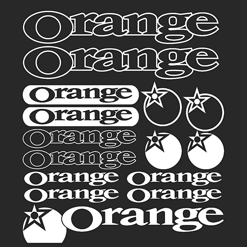 栄光の遅れ贅沢グラフィックカーボディデカールステッカーセットスタイリングオレンジビニールステッカーステッカーシートバイクフレームサイクルサイクリング自転車マウンテンバイクロード車用 (WHITE)