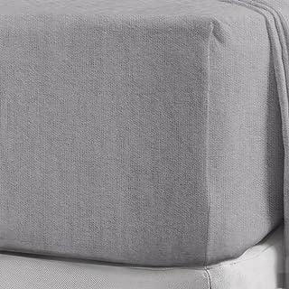 NIYS Luxury Bedding Draps-housse 100% coton brossé et pilou très profond de 40cm en 12coul...