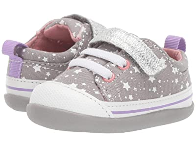 See Kai Run Kids Stevie II (Infant/Toddler) (Gray Stars) Girl