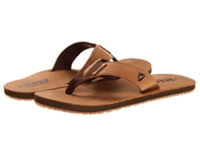 Reef Reef Leather Smoothy (Bronze/Brown) Men