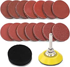 Coceca 70pcs 2 Inches Sandpaper Sanding Discs Pad Kit for Drill Grinder Rotary Tools with a Quartar Inch Backer Plate Shank and Soft Foam Buffering Pad, 60-3000 Grit