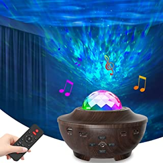پروژکتور JYCXR پروژکتور نور شبانه با LED پروژکتور Galaxy Ocean Wave ، پروژکتور ستاره ای با بلندگوی موسیقی