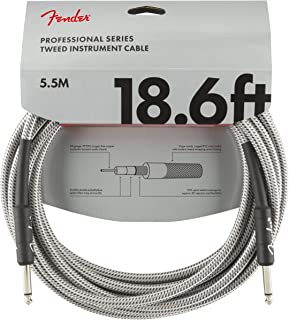 Fender Professional Series - Cable de fibra óptica (5,5 m) Tweed
