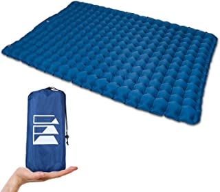 Equippt Ultralight Double Sleeping Pad | Camping Mattress with Built-in Pump and Carry Pouch for Tent, 4WD, Truck-Bed, Hik...