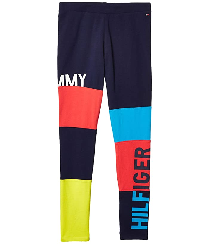 Tommy Hilfiger Adaptive  Leggings with Elastic Waist (Little Kids/Big Kids) (Evening Blue) Womens Casual Pants