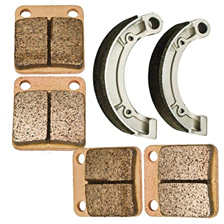 Yamaha Grizzly YFM350 Front Brake Pads /& Rear Shoes 2007-2014