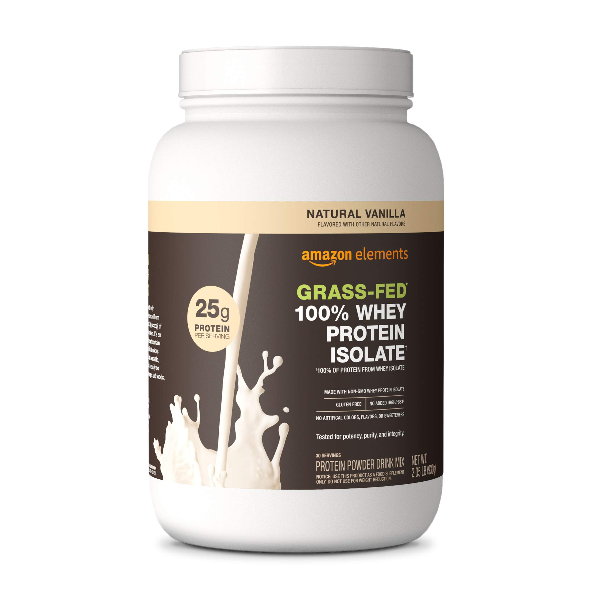 Amazon Elements Grass Fed Protein Isolate