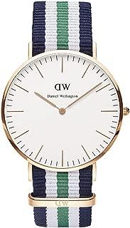 (ダニエルウェリントン)Daniel Wellington ダニエルウェリントン 腕時計 クラシック 40mm メンズ ローズゴールド 0108DW ノッティンガム ネイビーxホワイトxグリーン [並行輸入品]