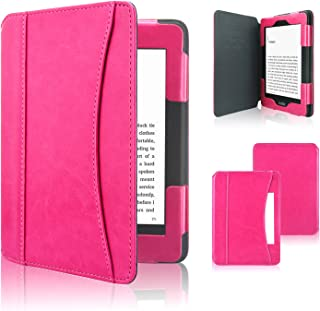 ACdream Kindle Paperwhite Case 2018, Folio Smart Cover Leather Case with Auto Sleep Wake Feature for All New and Previous Kindle Paperwhite Models, Hot Pink