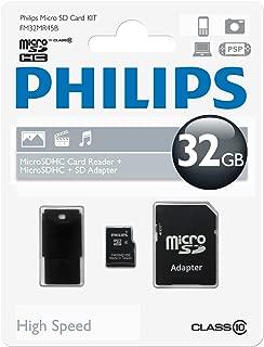 Blau Philips ACC9008 SDHC Speicherkarte 8 GB f/ür digitale Philips Diktierger/äte