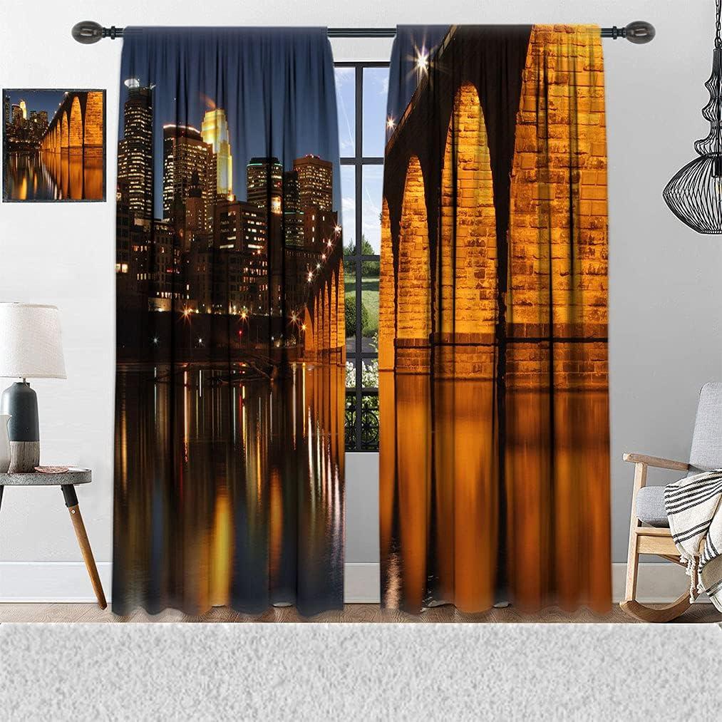 Cityscape Industry No. 1 Decor Room Darkening Curtain Sale special price in Bridge Stone Arch Min
