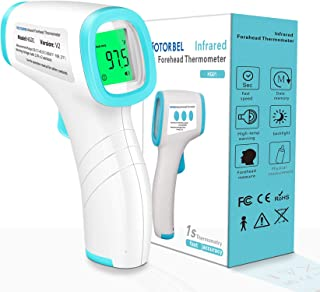 MOTORBEL Upgraded Non-Contact Infrared Forehead Thermometer for Adults and Kids, Professional Accurate Digital Thermometer...