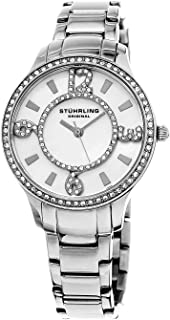 Stuhrling Original Women's Quartz Watch With Mother Of Pearl Dial Analogue Display and Silver Stainless Steel Bracelet 559.01