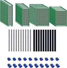 MMOBIEL 60 Pcs PCB Breadboard Circuit Board Prototype Set with Screw Terminal Blocks 2/3 pins Male/Female Header Kit Unive...