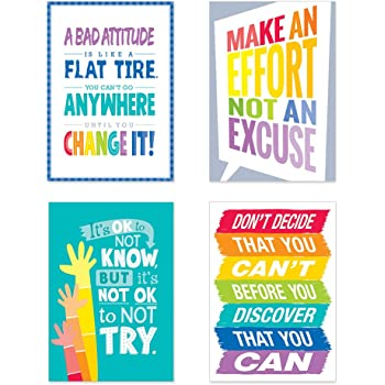 Creative Teaching Press Inspire U Painted Palette 4-Posters (4 Pack) (Room Displays and Decoration), Multi (7487)