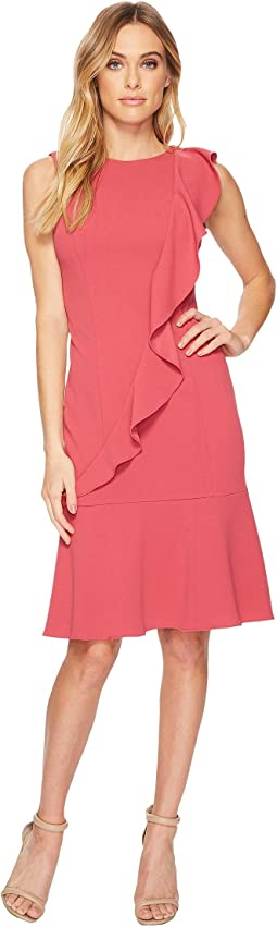 Adrianna Papell - Knit Crepe Corkscrew Dress w/ Dropwaist